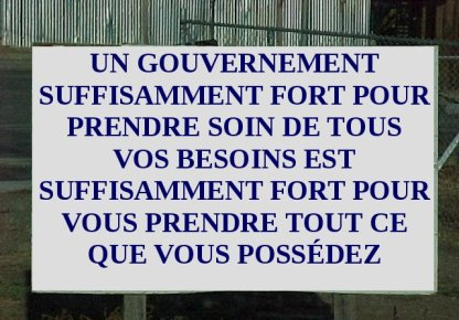 Gouvernement suffisamment fort...