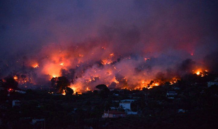 Grèce 1 - Operation Gladio terrorizes Greece with geoengineered firestorms