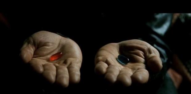 Pillule rouge ou bleue