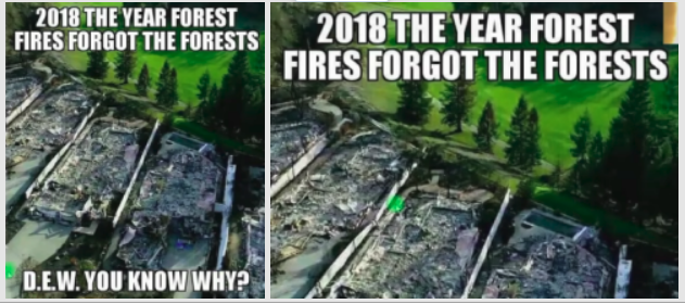 California fires - targets