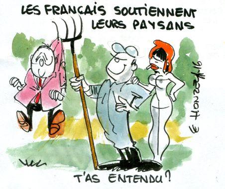 Les Français soutiennent leurs paysans