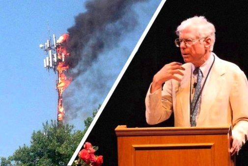 5G - antenne en flamme