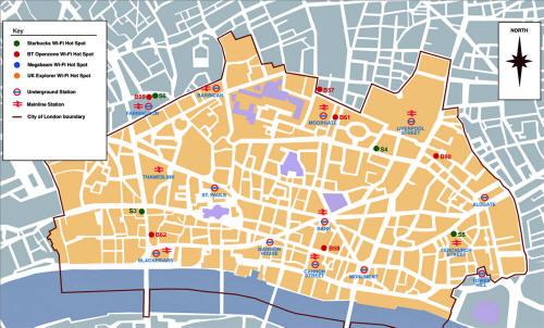 Carte de la City de londres