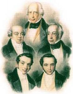 Les 5 frères Rothschild (2ème génération)