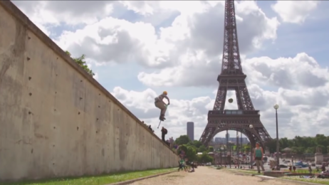 Pogo-sticking in Paris