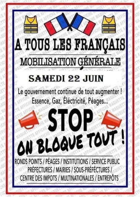Stop : on bloque tout!