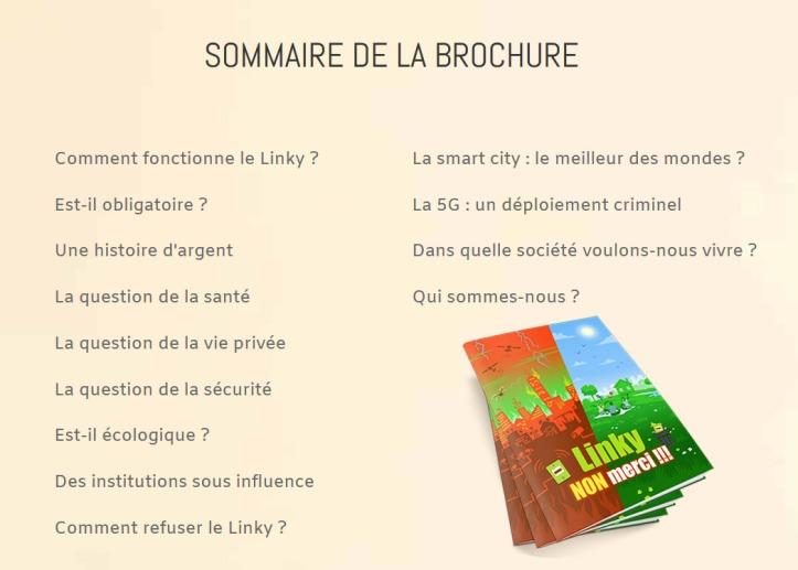 Linky - sommaire brochure