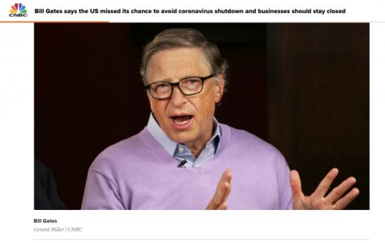 Bill Gates - Screenshot, CNBC, March 24, 2020