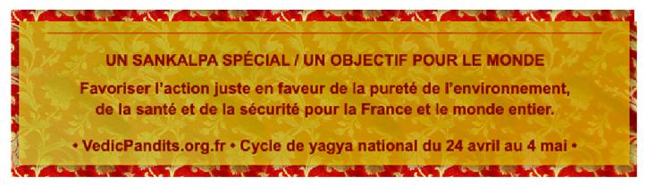 Sankalpa Spécial pour la France et le monde