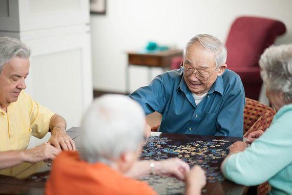 Seniors dans un EHPAD