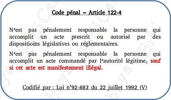 Carte - Code pénal – Article 122-4