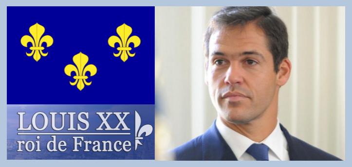 Louis XX + logo + fleur de lys