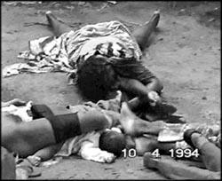 Génocide rwandais - un bébé parmi les victimes