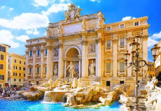 Trevi Fountain in Rome, Italy